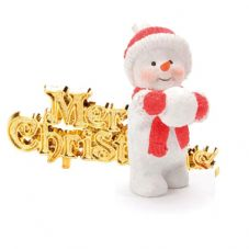 Snowchild with Merry Chirstmas Cake Topper